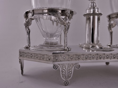 Silver cruet of Empire period by Biennais -