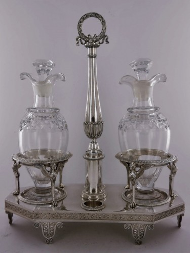 19th century - Silver cruet of Empire period by Biennais