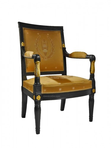 Empire Armchair stamped Jacob D rue Meslée, 19th century
