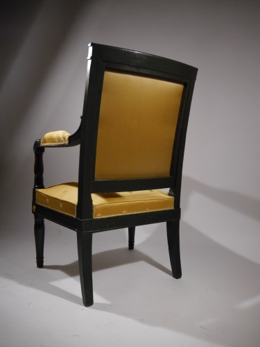 19th century - Empire Armchair stamped Jacob D rue Meslée, 19th century