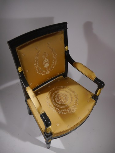 Empire Armchair stamped Jacob D rue Meslée, 19th century - Empire