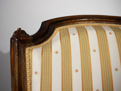 Pair of Louis XVI armchairs by P. Pluvinet, 18th century -