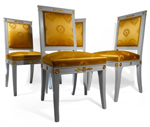 Set of 4 chairs by Jacob