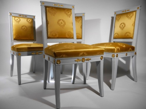 19th century - Set of 4 chairs by Jacob
