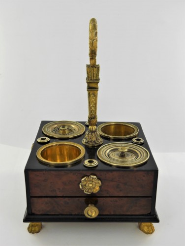 Empire inkwell in mahogany and ebony, beginning of the 19th century - Decorative Objects Style Empire