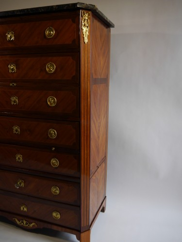 Furniture  - Interesting louis XVI chiffonnier by Bircklé, 18th century