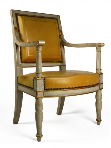 French Empire armchair from the Palais de Compiègne, stamped Jacob