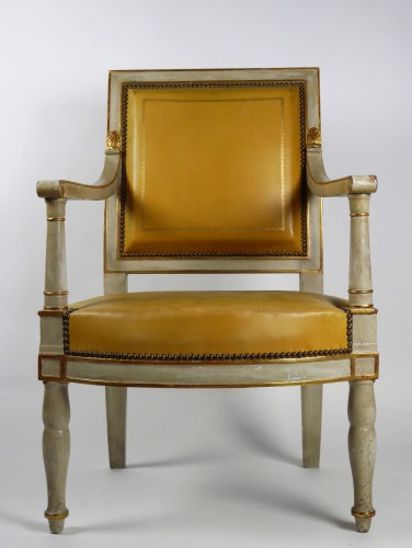 French Empire armchair from the Palais de Compiègne, stamped Jacob - Seating Style Empire