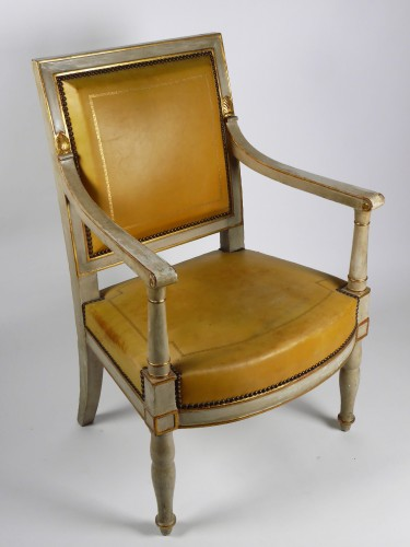 Empire - French Empire armchair from the Palais de Compiègne, stamped Jacob