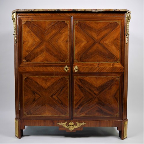 Stunning double chiffonnier opening by doors, stamped Rebour - Furniture Style Louis XVI