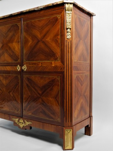 Stunning double chiffonnier opening by doors, stamped Rebour -