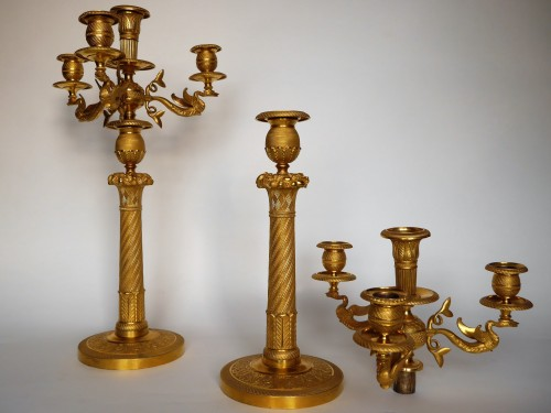 A pair of Empire candelabra, beginning of the 19th century -