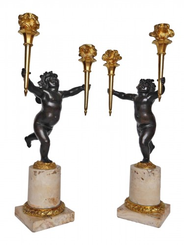 Pair of Louis XVI candelabra by Rabrio, late 18th century