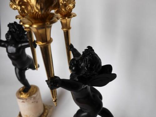 Pair of Louis XVI candelabra by Rabrio, late 18th century - Lighting Style Louis XVI