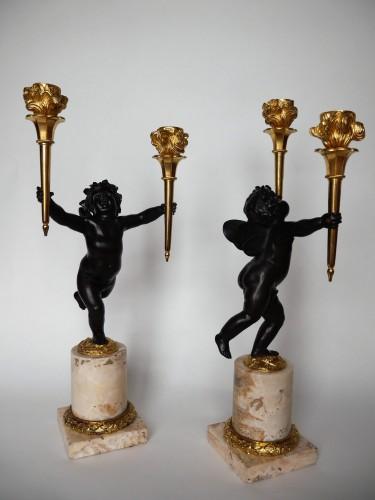 Pair of Louis XVI candelabra by Rabrio, late 18th century -