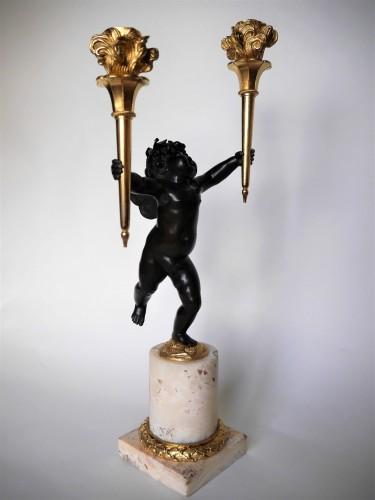 Pair of Louis XVI candelabra by Rabrio, late 18th century - Louis XVI
