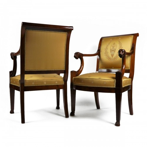 A pair of Consulate armchairs, beginning of the 19th century