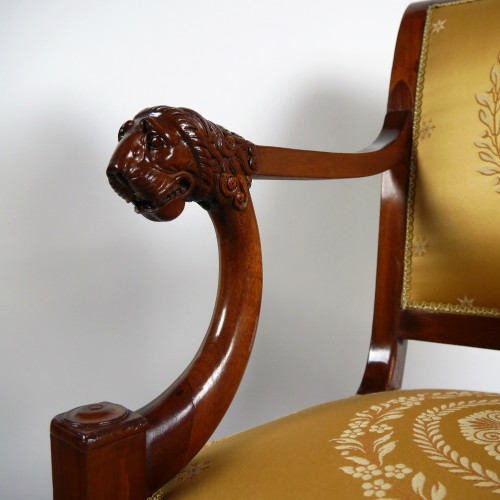 Seating  - A pair of Consulate armchairs, beginning of the 19th century