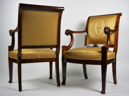 A pair of Consulate armchairs, beginning of the 19th century -