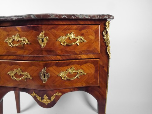 A Louis XV chest of drawers stamped by P Roussel, 18th century -