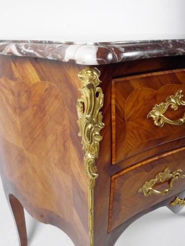 18th century - A Louis XV chest of drawers stamped by P Roussel, 18th century