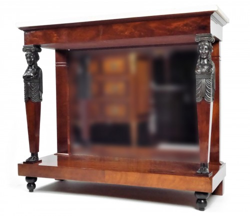 An Empire console in mahogany, beginning of the 19th century