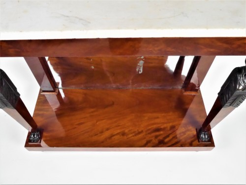 An Empire console in mahogany, beginning of the 19th century -
