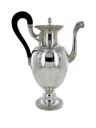 A coffee pot in the Empire style by Odiot