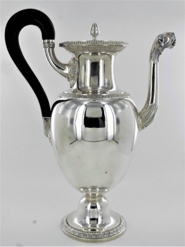 A coffee pot in the Empire style by Odiot - Restauration - Charles X