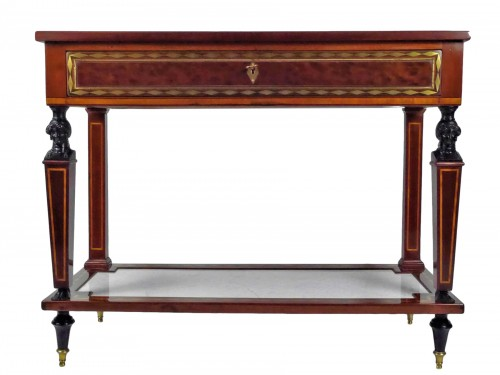 A Directoire console in mahogany et citronnier, 18th century