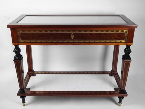 A Directoire console in mahogany et citronnier, 18th century - Furniture Style Directoire