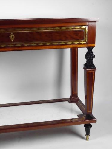 A Directoire console in mahogany et citronnier, 18th century -