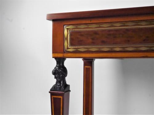 A Directoire console in mahogany et citronnier, 18th century - Directoire