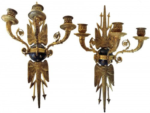 Pair of Empire sconces by Ravrio