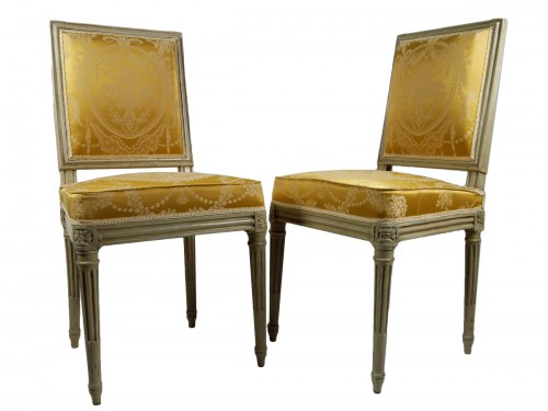 Pair of chairs by Boulard from Palace of Compiègne, 18th century