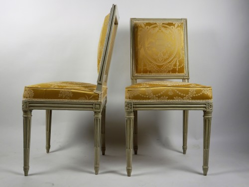Pair of chairs by Boulard from Palace of Compiègne, 18th century -