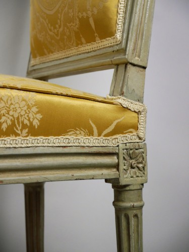 Pair of chairs by Boulard from Palace of Compiègne, 18th century - Louis XVI