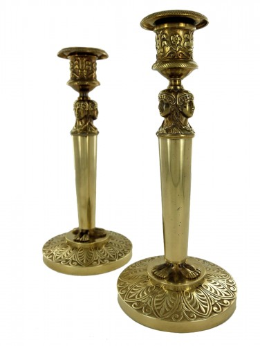 Pair of Empire candlesticks, beginning of the 19th century