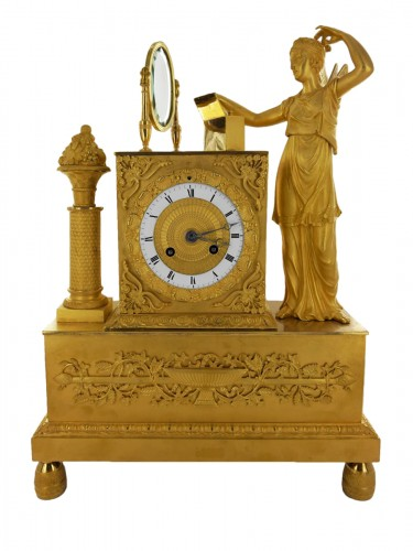A gilt bronze pendulum clock, beginning of the 19th century