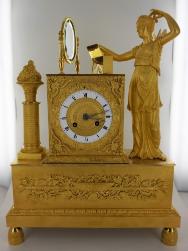 A gilt bronze pendulum clock, beginning of the 19th century - Clocks Style Restauration - Charles X