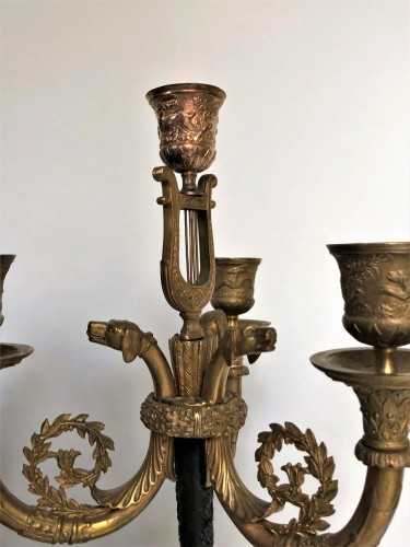 A pair of candelabra of the Empire period, beginning of the 19th century - Lighting Style Empire