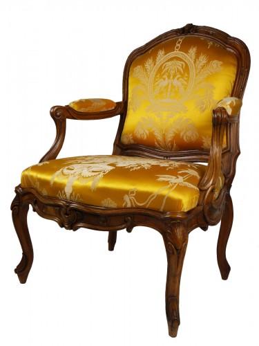 A Louis XV frame armchair by Tilliard, 18th century