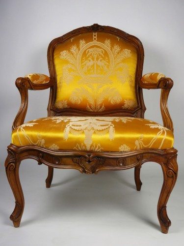 A Louis XV frame armchair by Tilliard, 18th century -