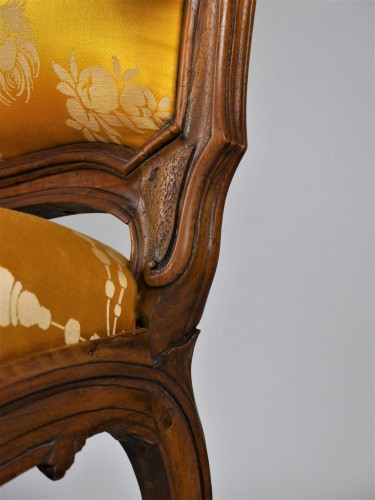 Antiquités - A Louis XV frame armchair by Tilliard, 18th century
