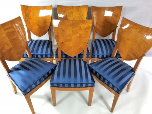 Seating  - Suite Of 6 Empire Chairs Stamped By Jacob, Early 19th century