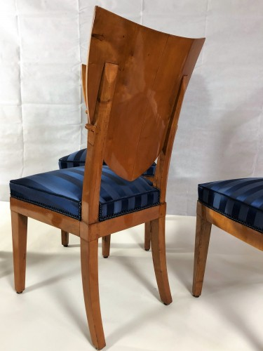 19th century - Suite Of 6 Empire Chairs Stamped By Jacob, Early 19th century