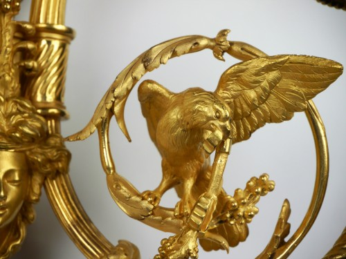 Pair of Louis XVI sconces by Gouthière or Thomire, 18th century - Louis XVI