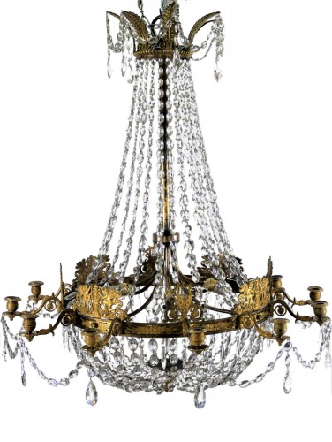 Lustre corbeille d'époque Empire