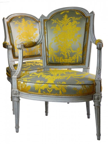 A pair of Louis XVI armchairs by Henri Jacob, 18th century