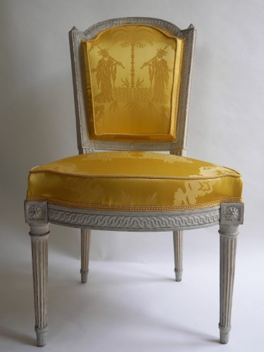 Suite of 4 chairs stamped by Henri Jacob, 18th century - Louis XVI